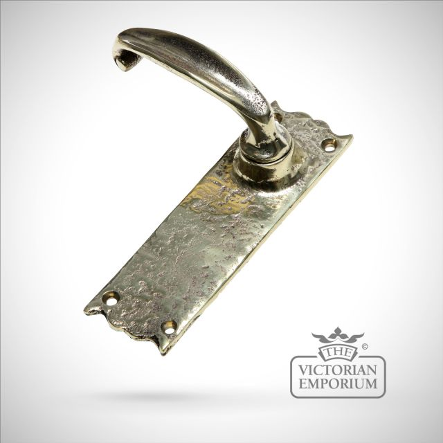 Cast brass handle - sold as a pair - lock or latch