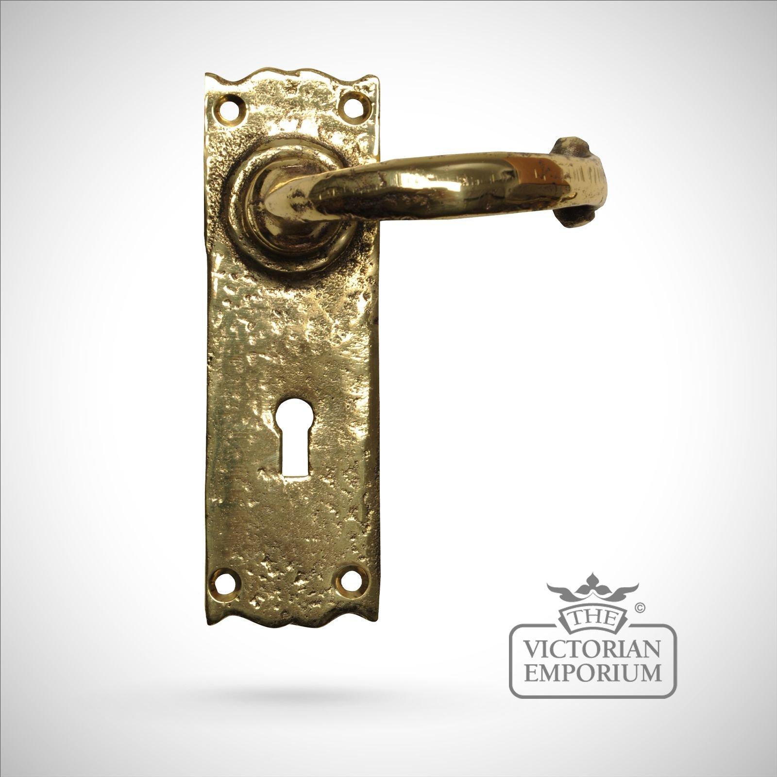 Cast Brass Plain Handle Sold As A Pair Door