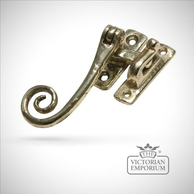 Hook plate or mortice plate in cast brass - reversible