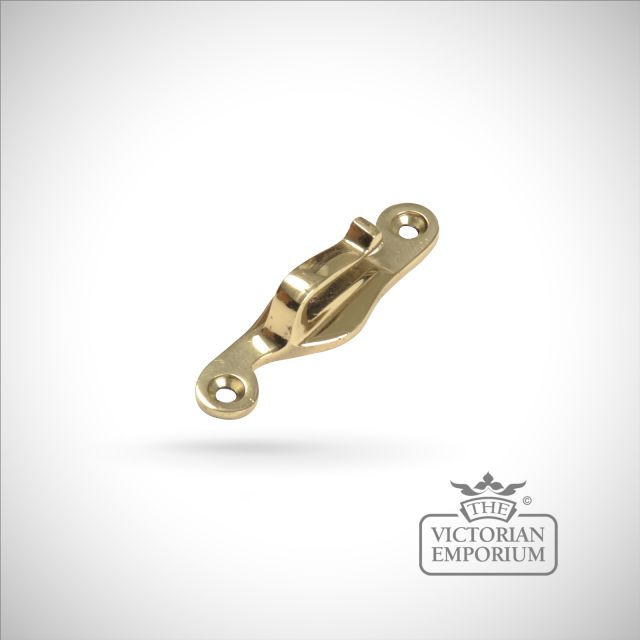 Hook plate in smooth brass