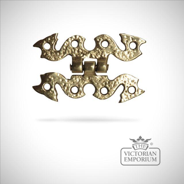 Decorative Hinge in cast brass