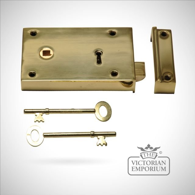 Rim Lock in cast brass