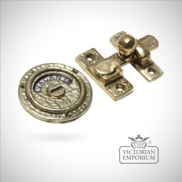 Cast brass bathroom lock vacant engaged old classical victorian decorative reclaimed-veb1150b-01