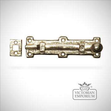 Cast brass bolt old classical victorian decorative reclaimed-veb1155c-01