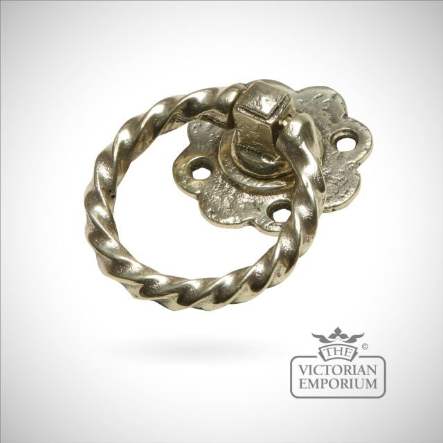 Ring handle in cast brass - 76mm