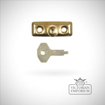 Locking pivot in cast brass