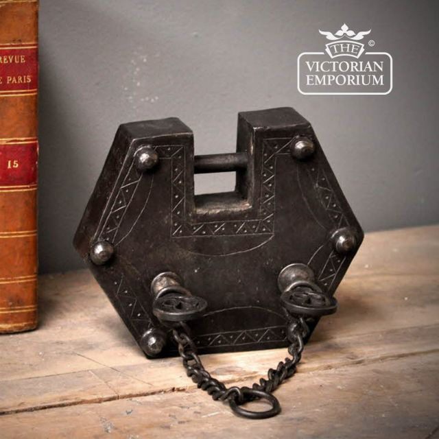 Small ornate padlock