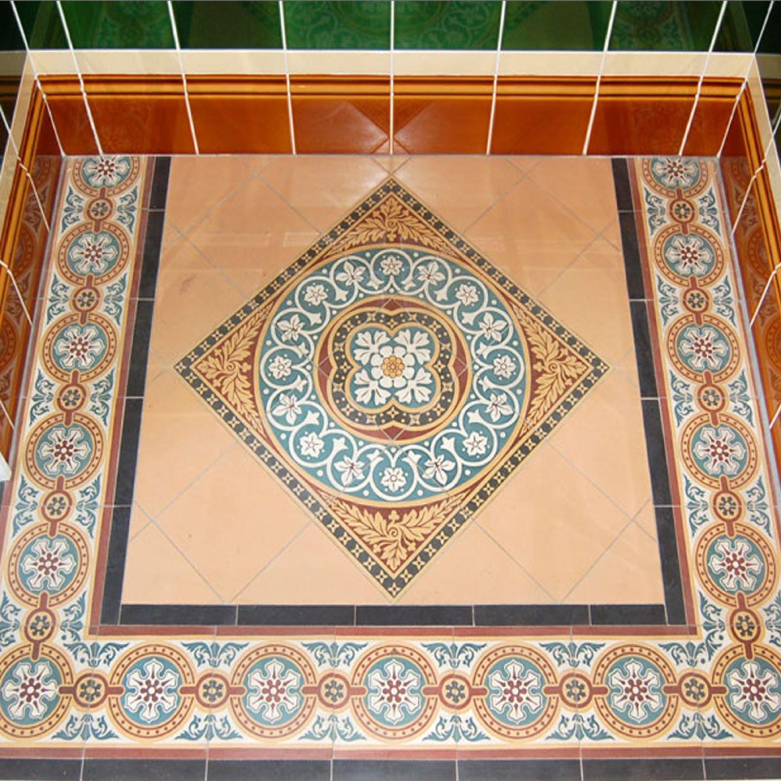 Jacks Field Mosaic Floor tiles Inset (centre) - Victorian ...