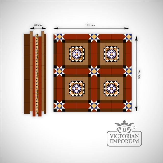 Knowl Mosaic Floor tiles Border