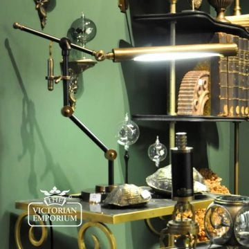 Steampunk desk lamp with neon light
