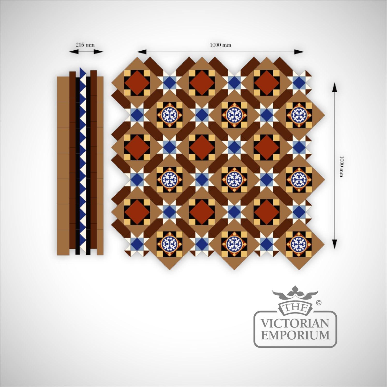 Lady Wood Mosaic Floor Tiles Border Victorian Mosaic