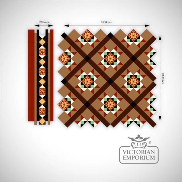 Salthouse Mosaic Floor tiles Inset (centre)