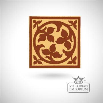 """Encaustic 6"""" square tile - design 1"""