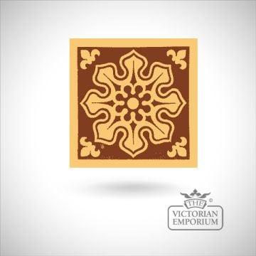 """Encaustic 6"""" square tile - design 2"""