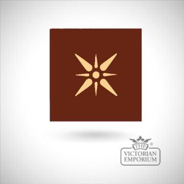 """Encaustic 6"""" square tile - design 6"""