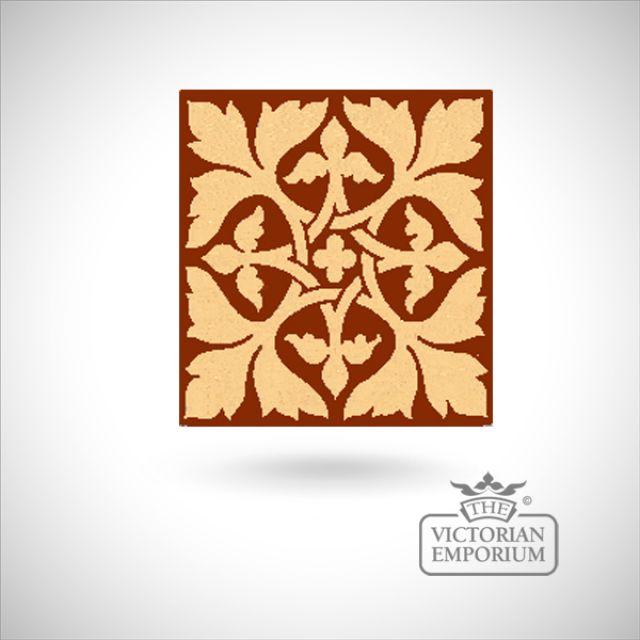 """Encaustic 6"""" square tile - design 9"""