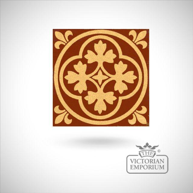 """Encaustic 6"""" square tile - design 11"""
