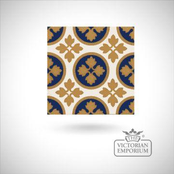 """Encaustic 6"""" square tile - design 14"""