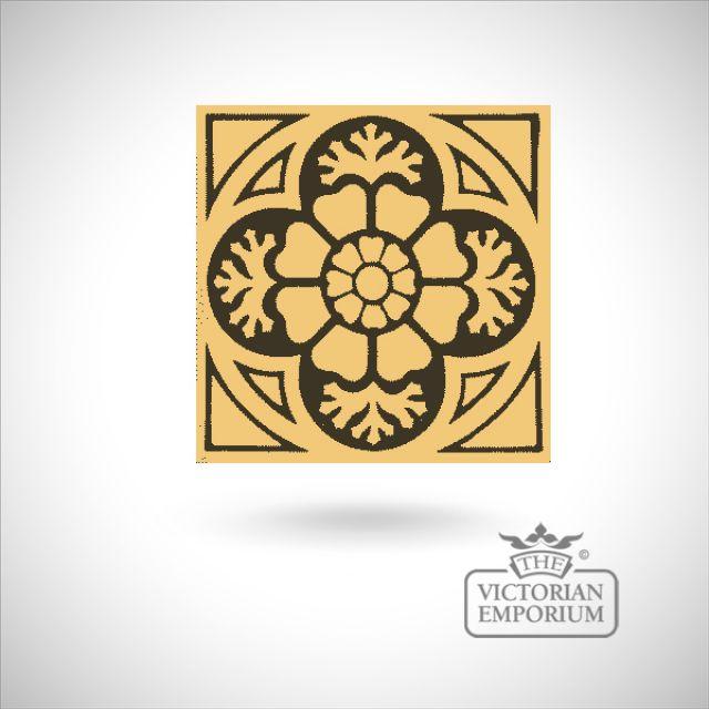 """Encaustic 6"""" square tile - design 17"""