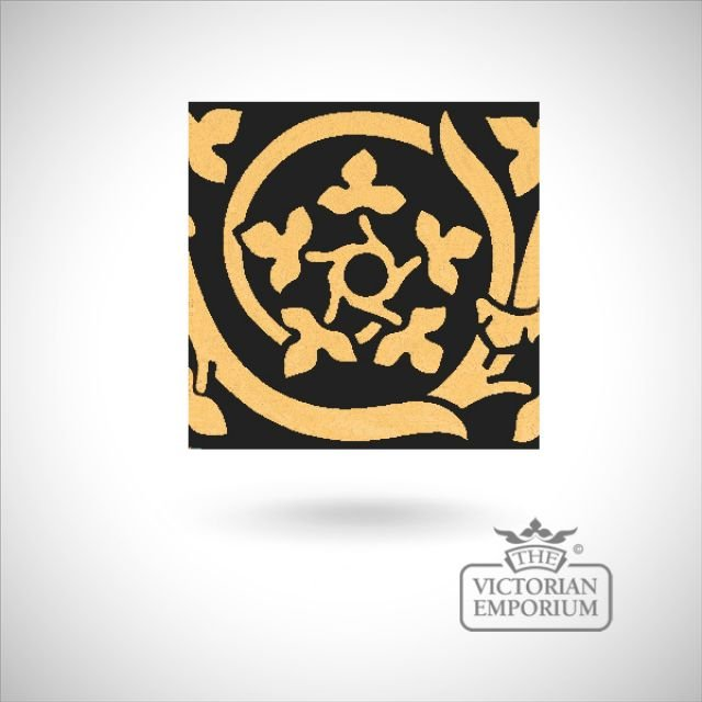 "Encaustic 6"" square tile - design 26"