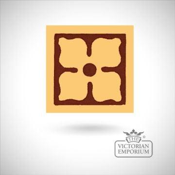 """Encaustic 3"""" square tile - design 1"""