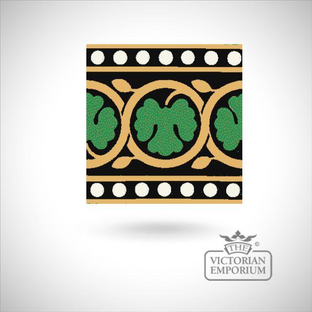 """Encaustic 6"""" square tile - design 30"""