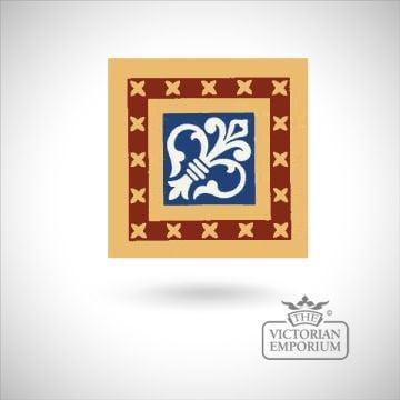 """Encaustic 6"""" square tile - design 33"""