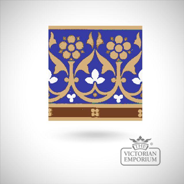 """Encaustic 6"""" square tile - design 34"""