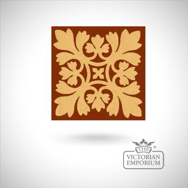 """Encaustic 6"""" square tile - design 41"""