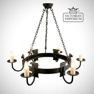 Chaucer 6 light ceiling chandelier