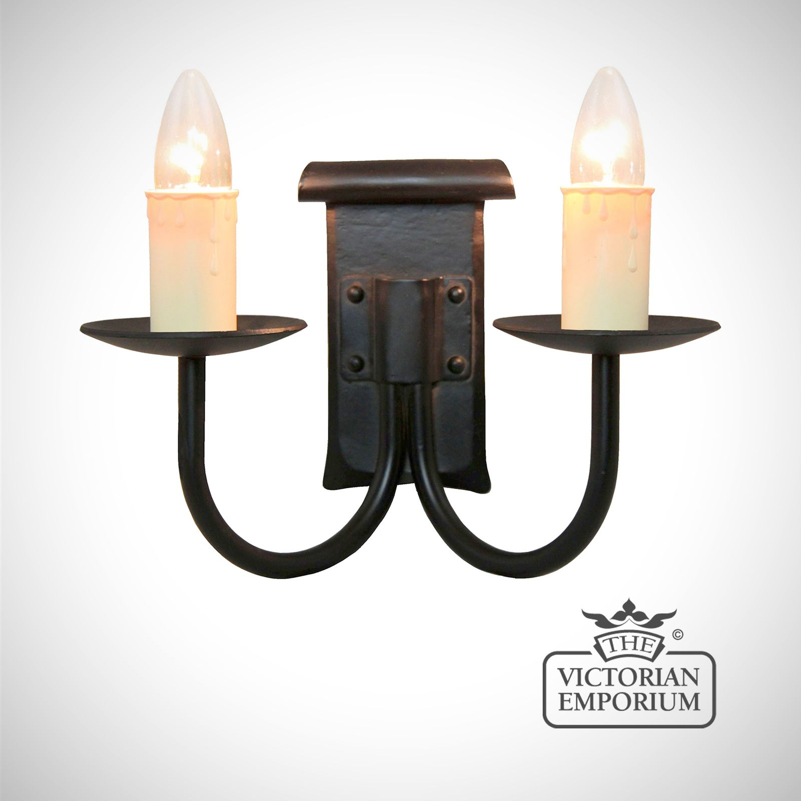 Chaucer 2 Light Wall Sconce The Victorian Emporium