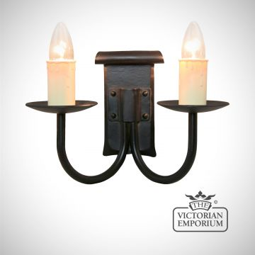 Chaucer 2 light wall sconce