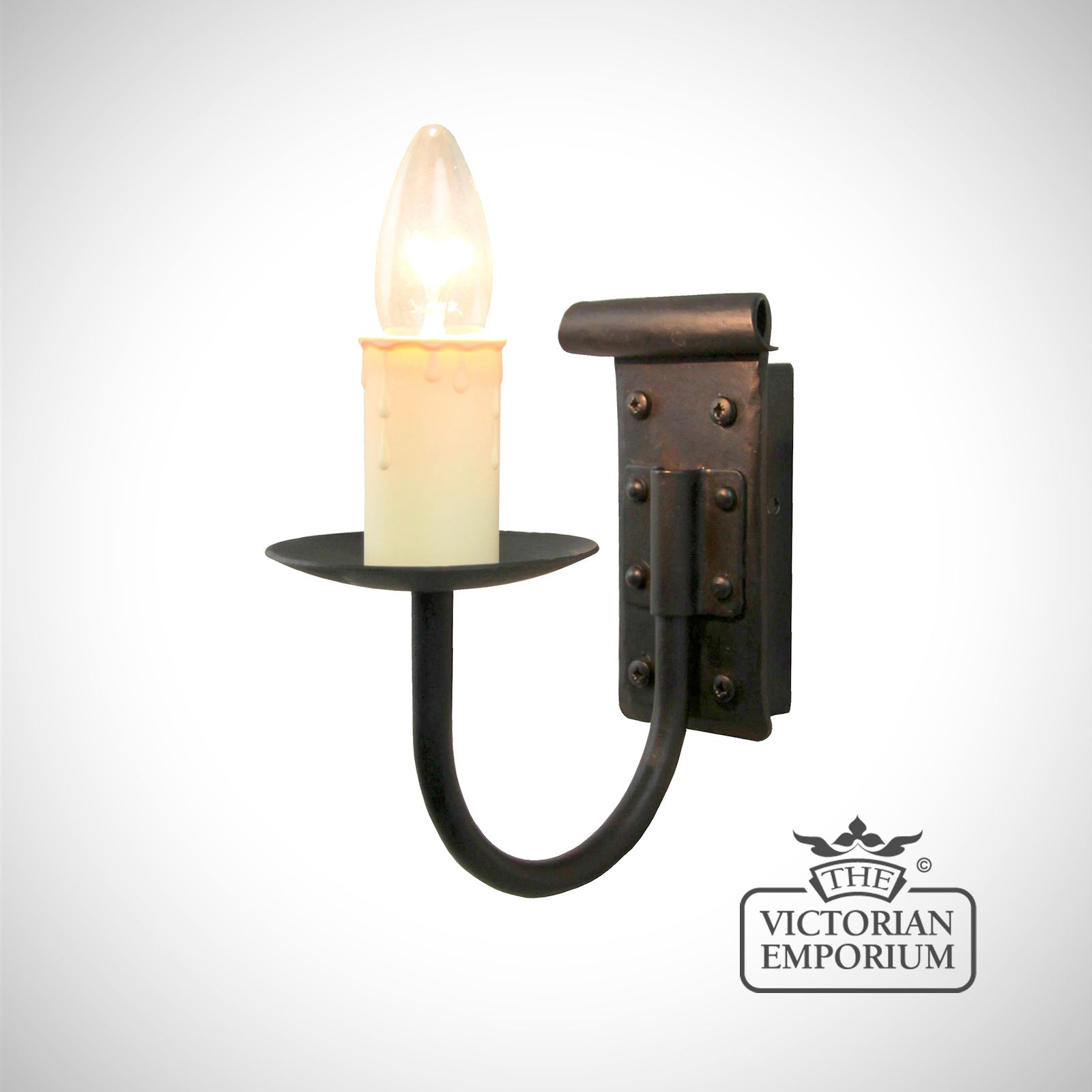 Candle Drips Wall Lights : Chaucer single wall sconce