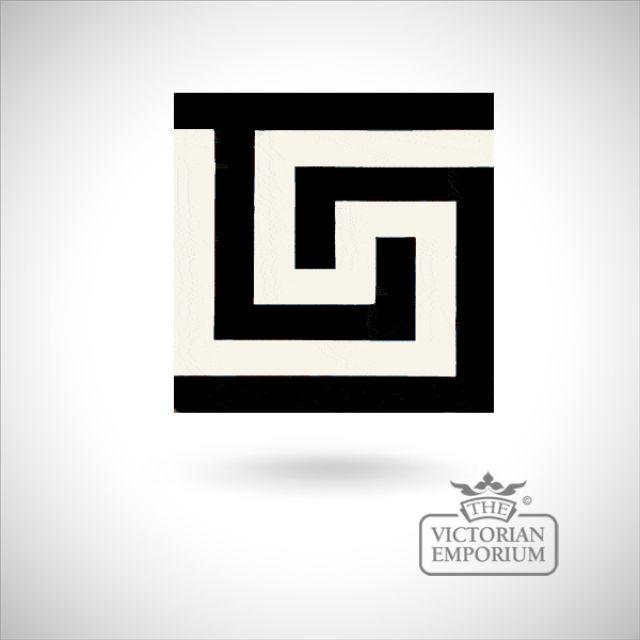 """Encaustic 6"""" square tile - design 43"""