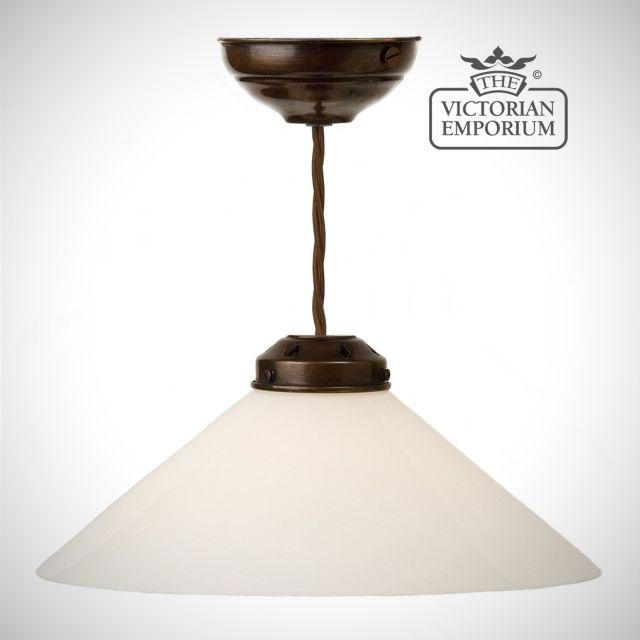 Classic triangle shaped ceiling pendant