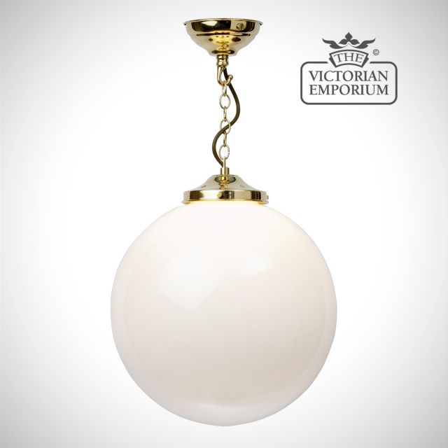 Globe pendant in small, medium, large or extra large sizes