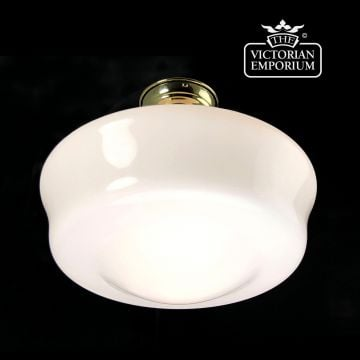 Scuptural opal flush mount light