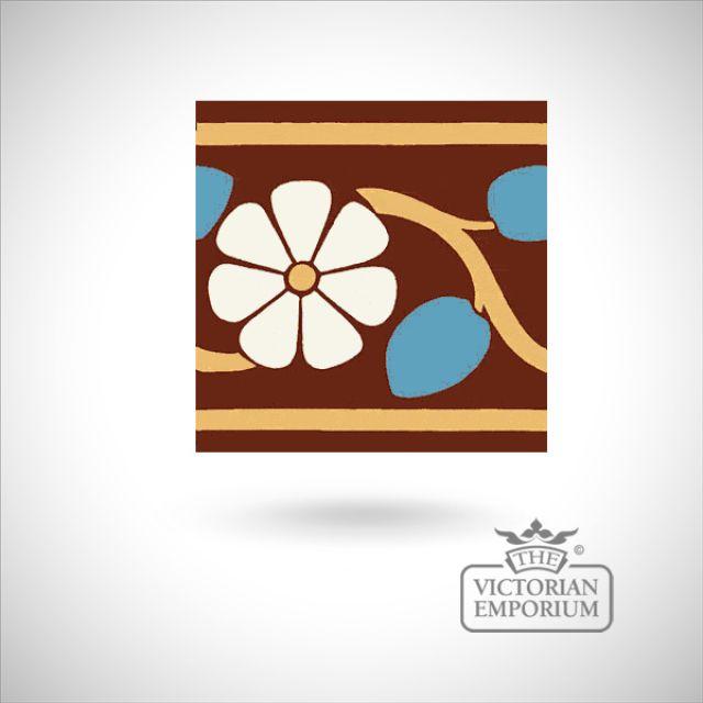 """Encaustic 6"""" square tile - design 45"""