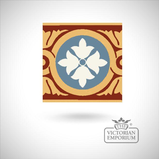 """Encaustic 6"""" square tile - design 47"""