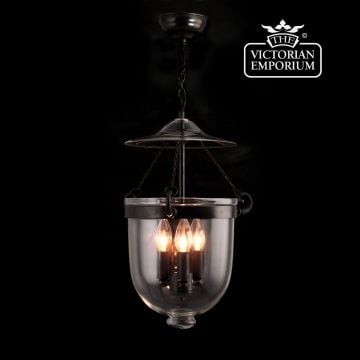 Plain Georgian lantern in antique bronze