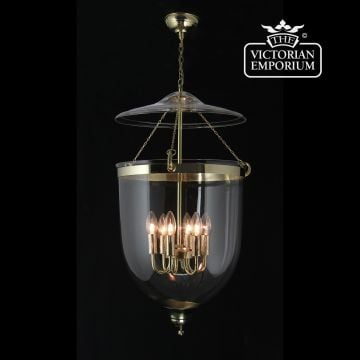 Plain Georgian lantern in brass
