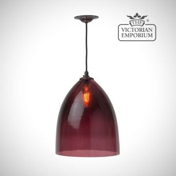 Havana glass pendant in a choice of colours - small, medium or large