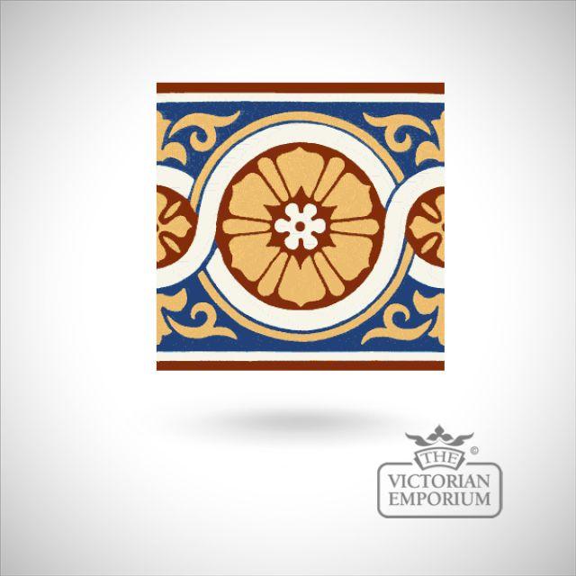 """Encaustic 6"""" square tile - design 50"""