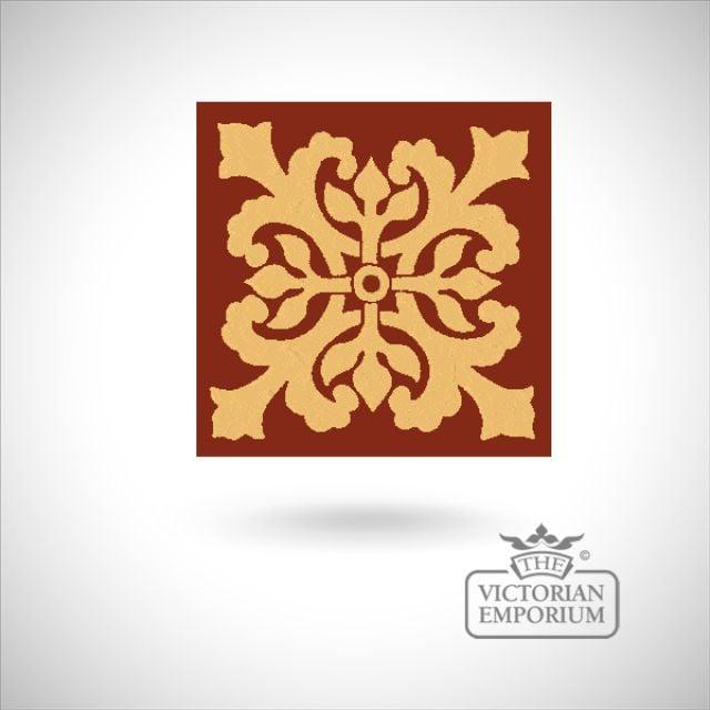 """Encaustic 6"""" square tile - design 52"""