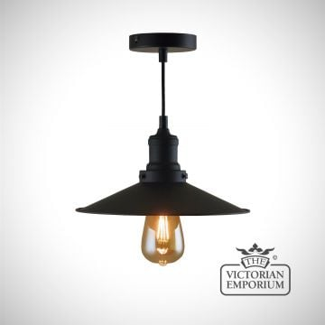 Matt black pendant light