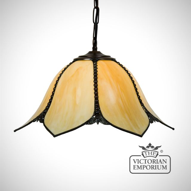 Petal Art Nouveau ceiling pendant light