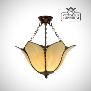 Petal Art Nouveau ceiling semi flush light