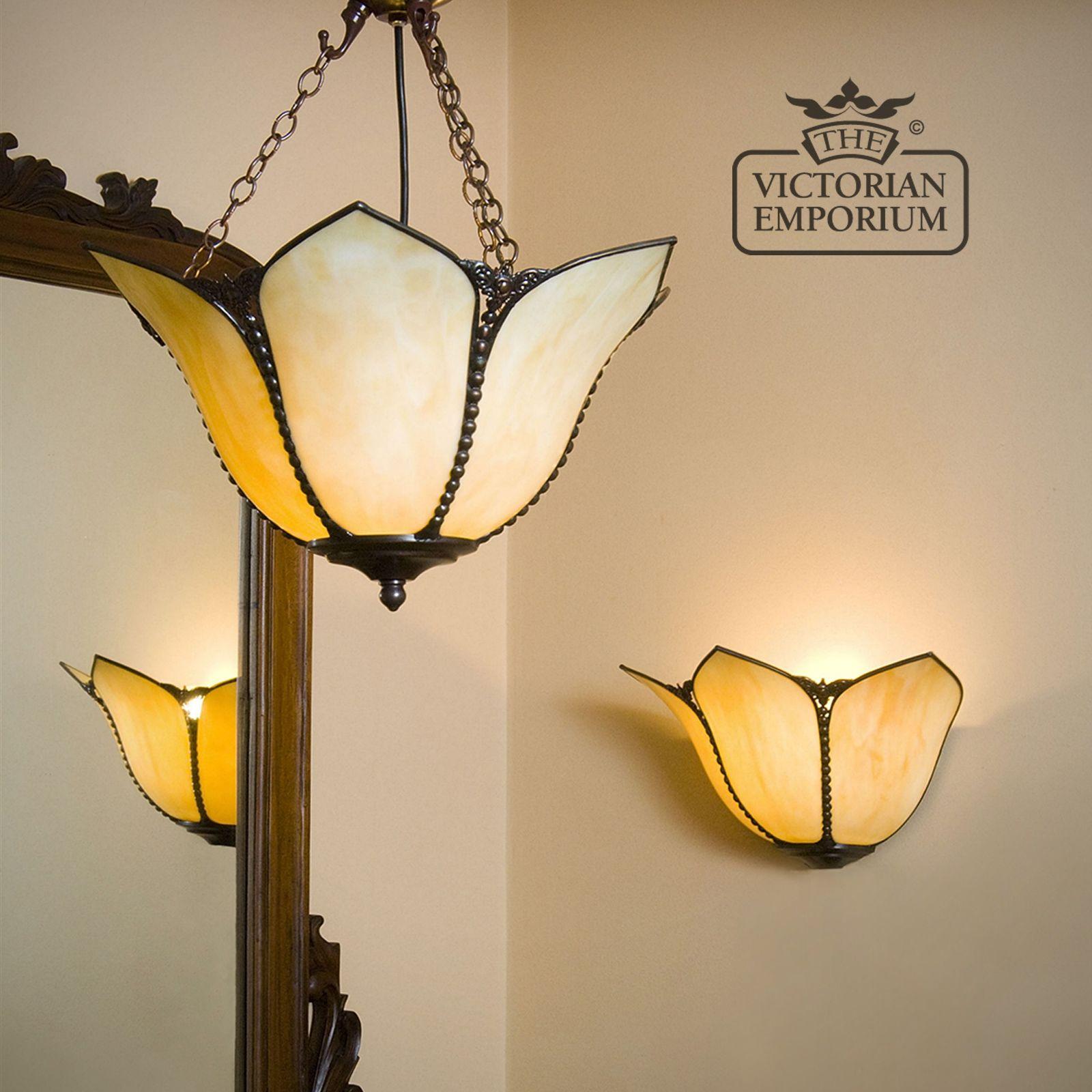 Petal Art Nouveau ceiling semi flush light
