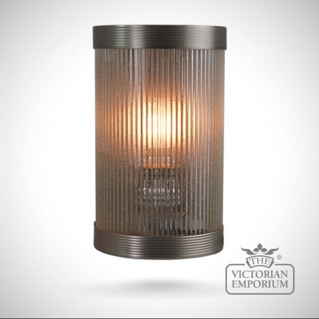 Wide reeded glass wall lights in a choice of finishes