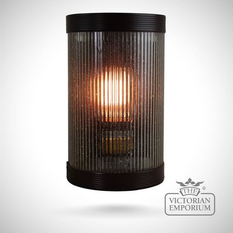 Wide Reeded Gl Wall Lights In A
